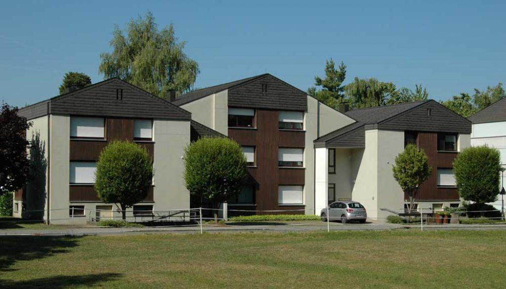 Außenansicht Wohnanlage Kennelbach die mit Infrarotheizung ausgestattet ist